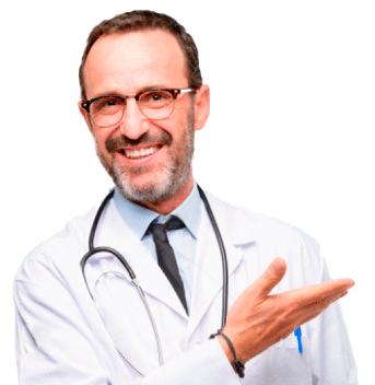 Arzt lädt ein Berater zu werden