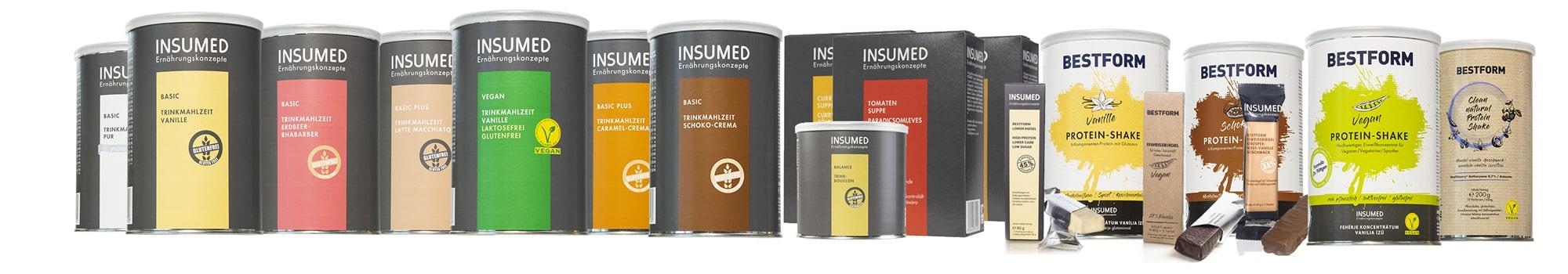 Banner Produktpalette Insumed