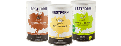 Bild 3 Dosen Insumed Bestform Proteinshakes