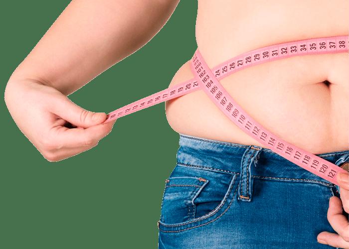 Bild Patienten Übergewicht Bauch