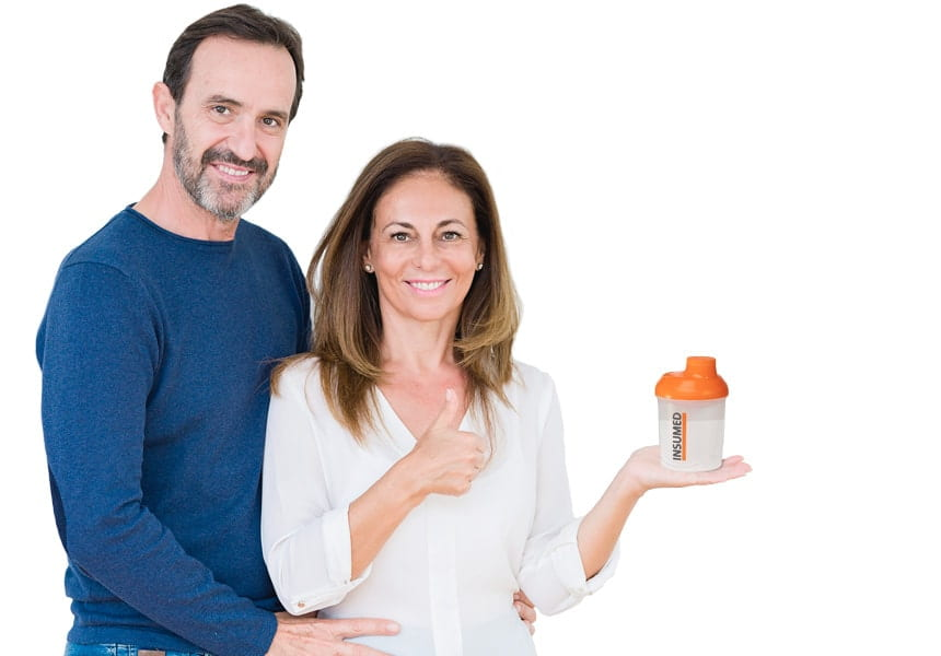 Bild Mann und Frau Abnehmen mit Insumed